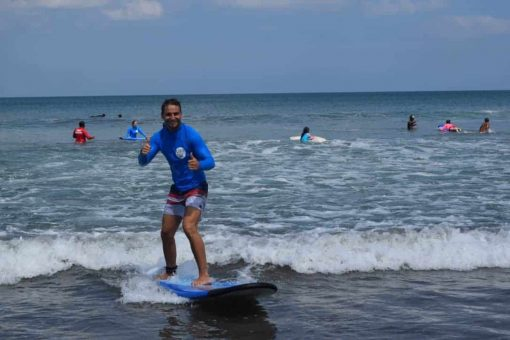 Surfing in Bali with Stoked Surf School.