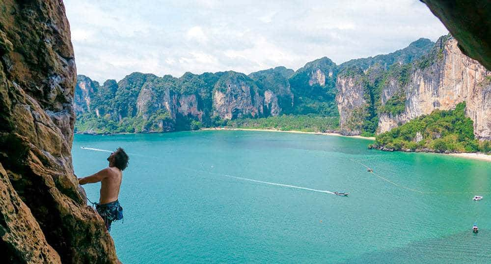 Railay, Krabi, Thailand - one of the best rock climbing places in the world.