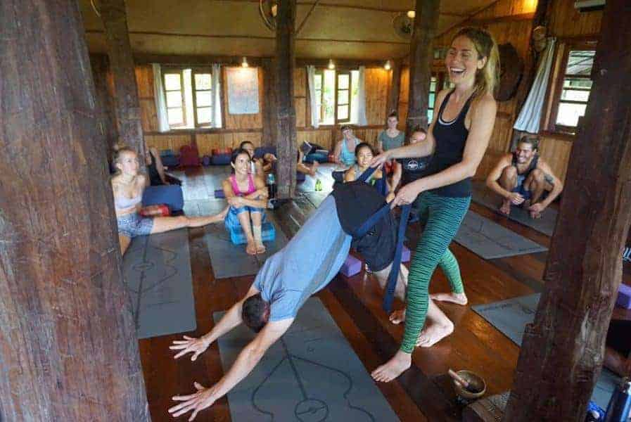 A student on Buddho Yoga's 230-Hour Teacher Training Course in Chiang Mai, Thailand.
