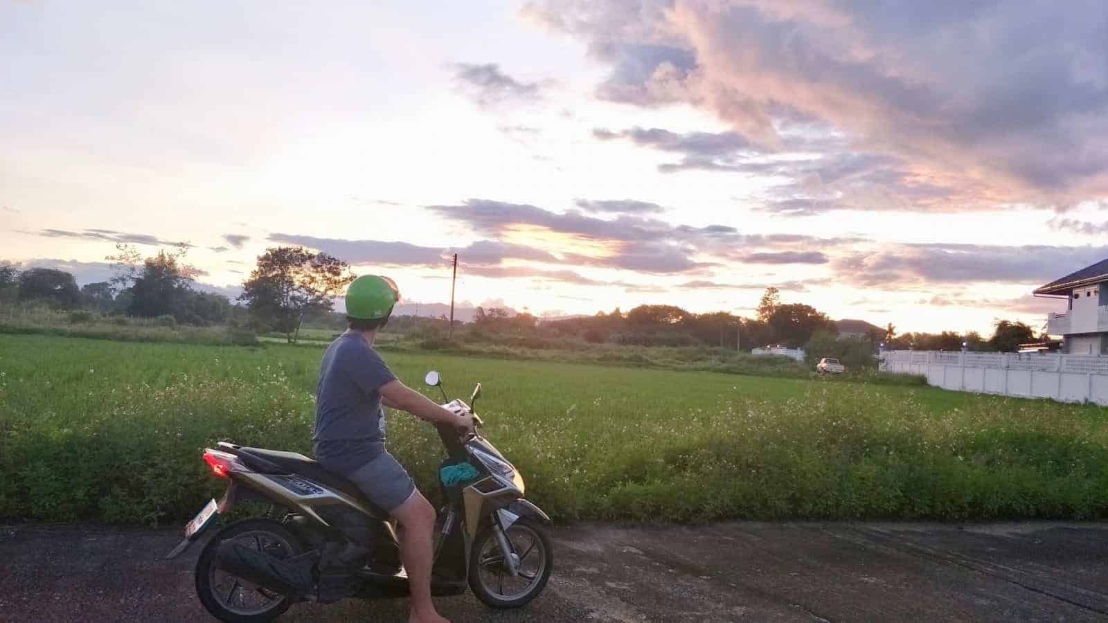 Riding the Samoeng Loop! It's so easy to get out of the city on a scooter.