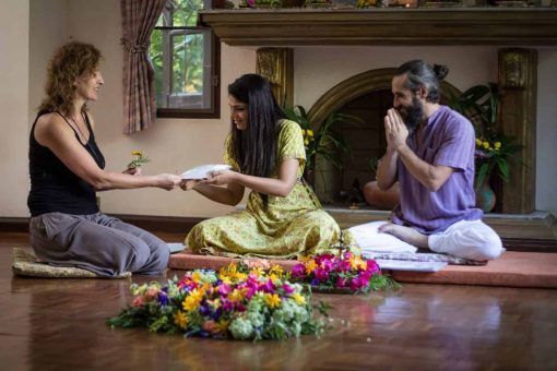 Jeenal and Daniel - the founders of the Wise Living Yoga Academy.