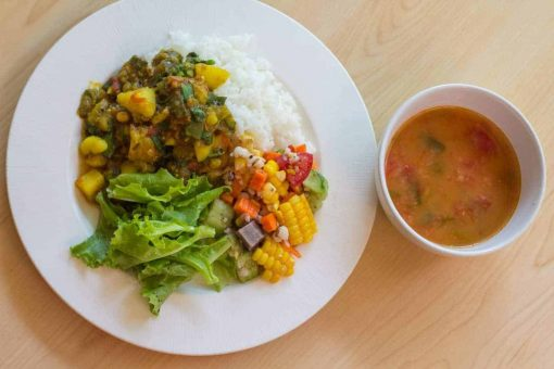 Delicious vegan food served during the WLYA 200-hour Yoga Teacher Training Course.