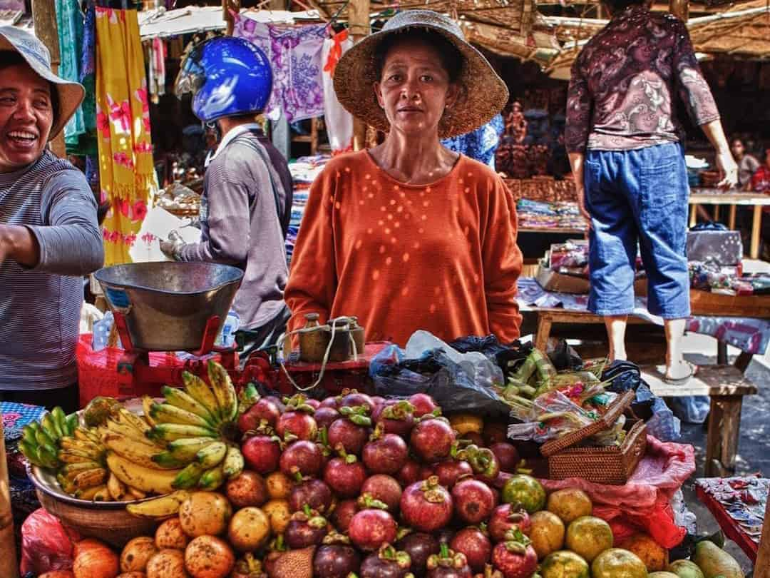 Local market in Southeast Asia