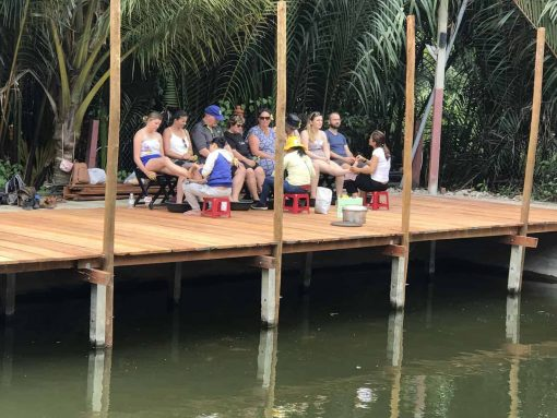 Foot massage by the river, Hoi An