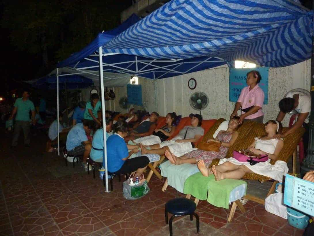 Massages after hours in Rambuttri, round the corner from Khao San