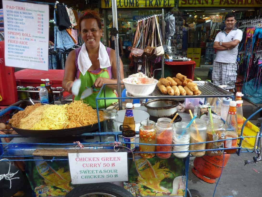 Pad Thai at any hour of the day on Khao San Road