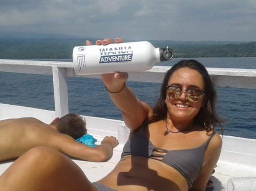 Water bottle provided by Wanua Adventure to help save the environment!