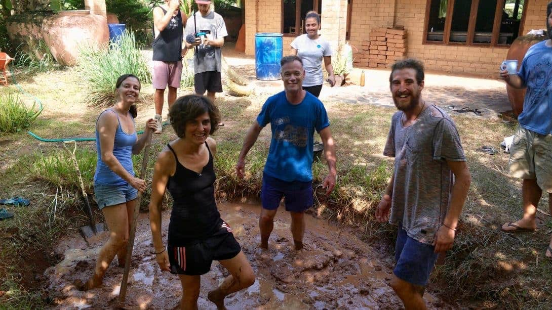 Playing in the Mud! On a Natural Building Course in Northeastern Thailand