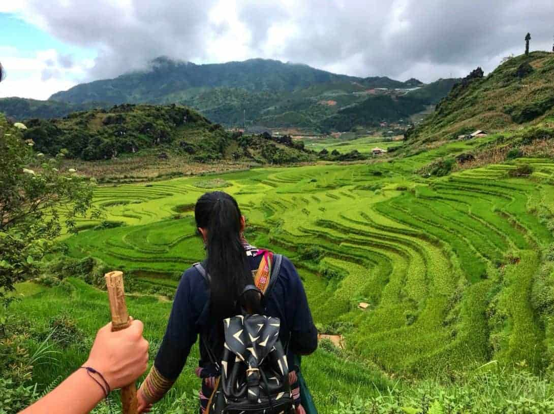 Hiking in Sapa with the Black Hmong Hill Tribe is a must on your Vietnam Itinerary!