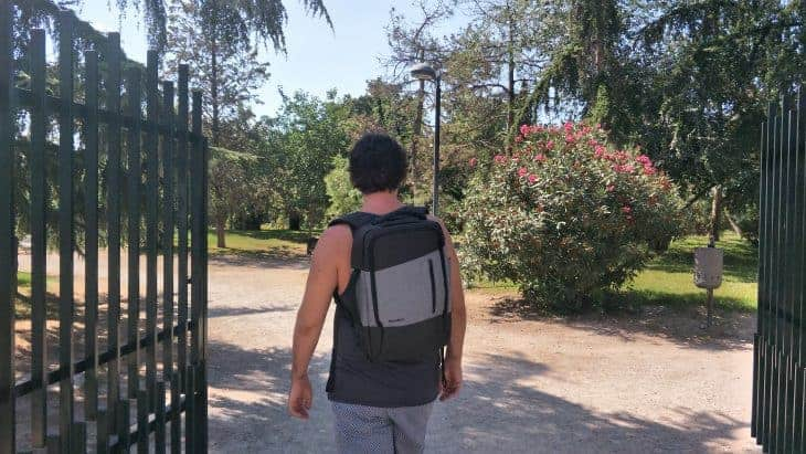 Dave Wears a Standard Luggage Daily Backpack