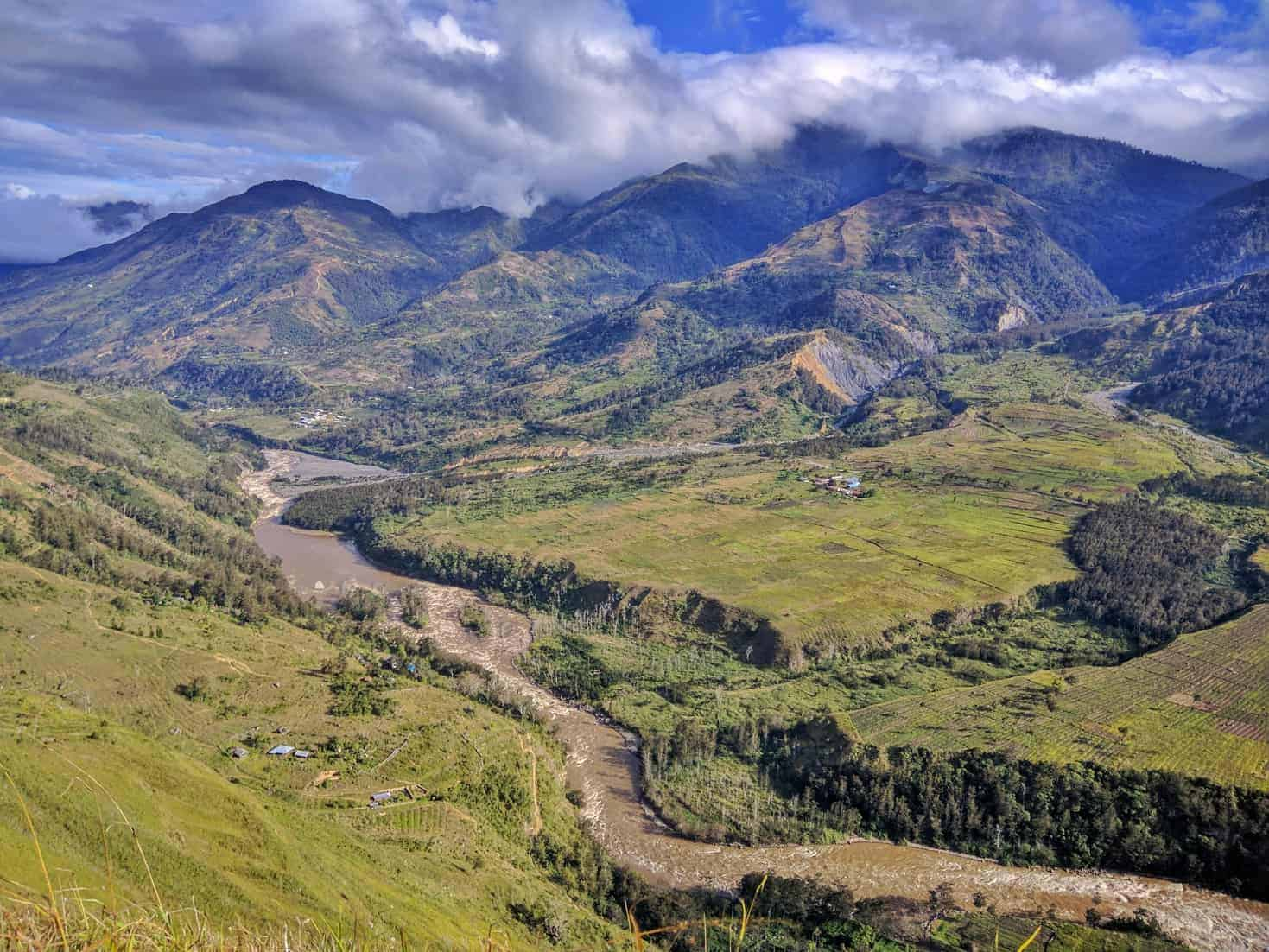 A panoramic view of Baliem Valley, Papua, Indonesia