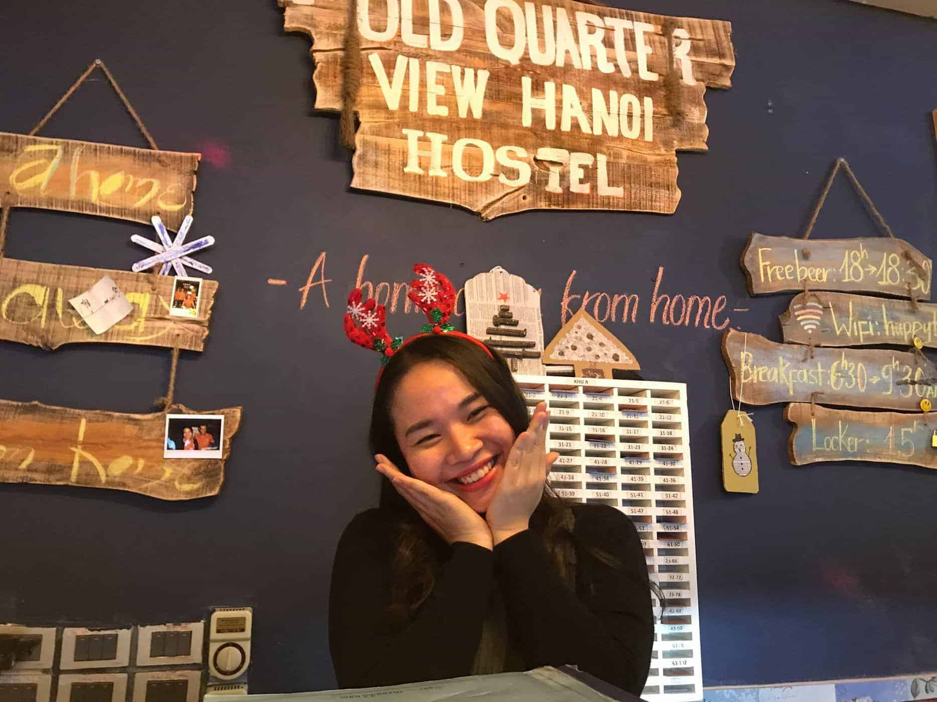 The accommodating and friendly staff of Old Quarter View Hostel makes ones stay more memorable - Hanoi, Vietnam.
