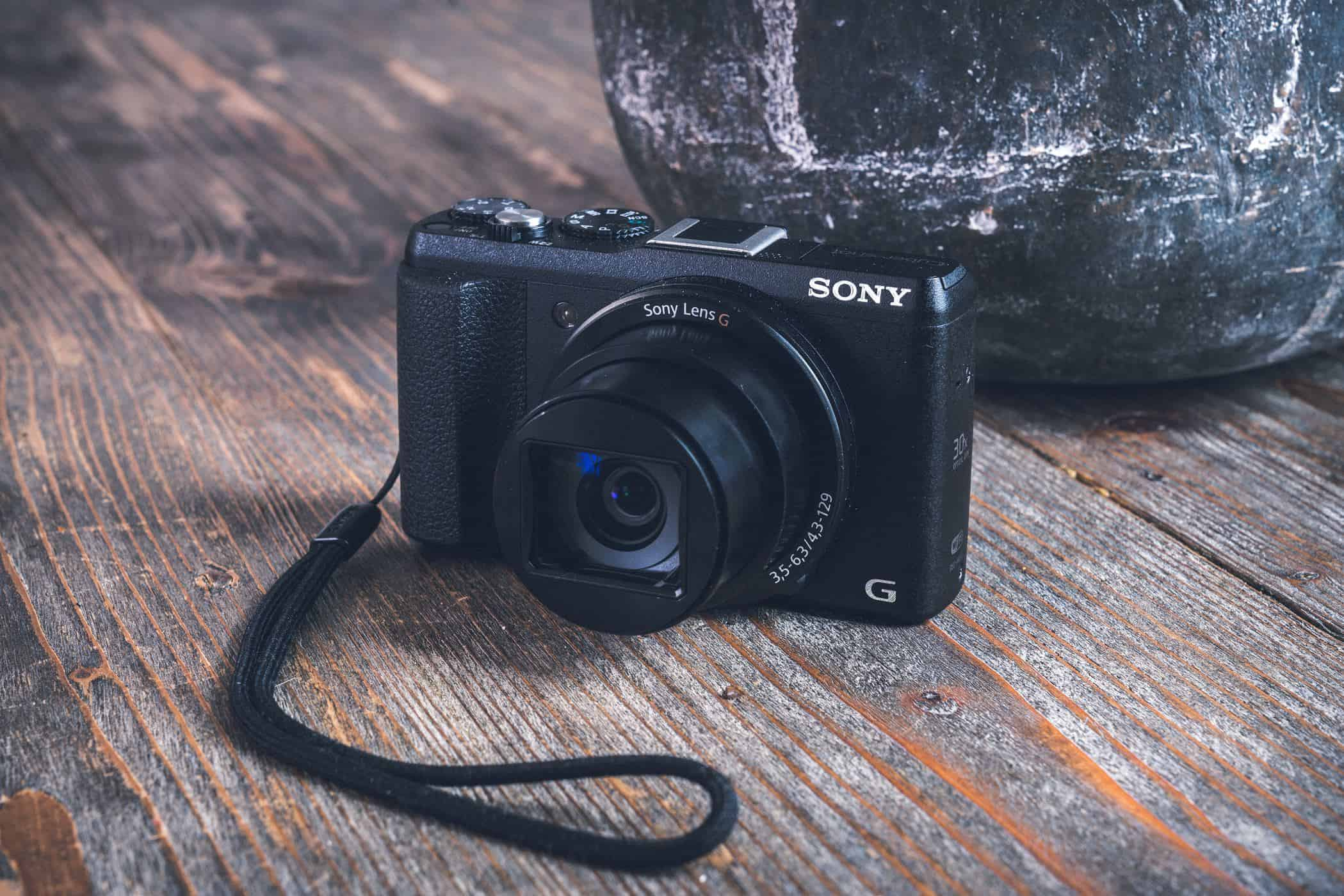 A Sony point and shoot camera