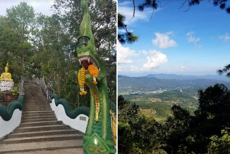 Steps to a temple in Doi Inthanon, Thailand.
