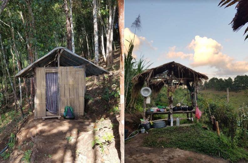 Basic Amenities in the camp. Doi Inthanon, Thailand.