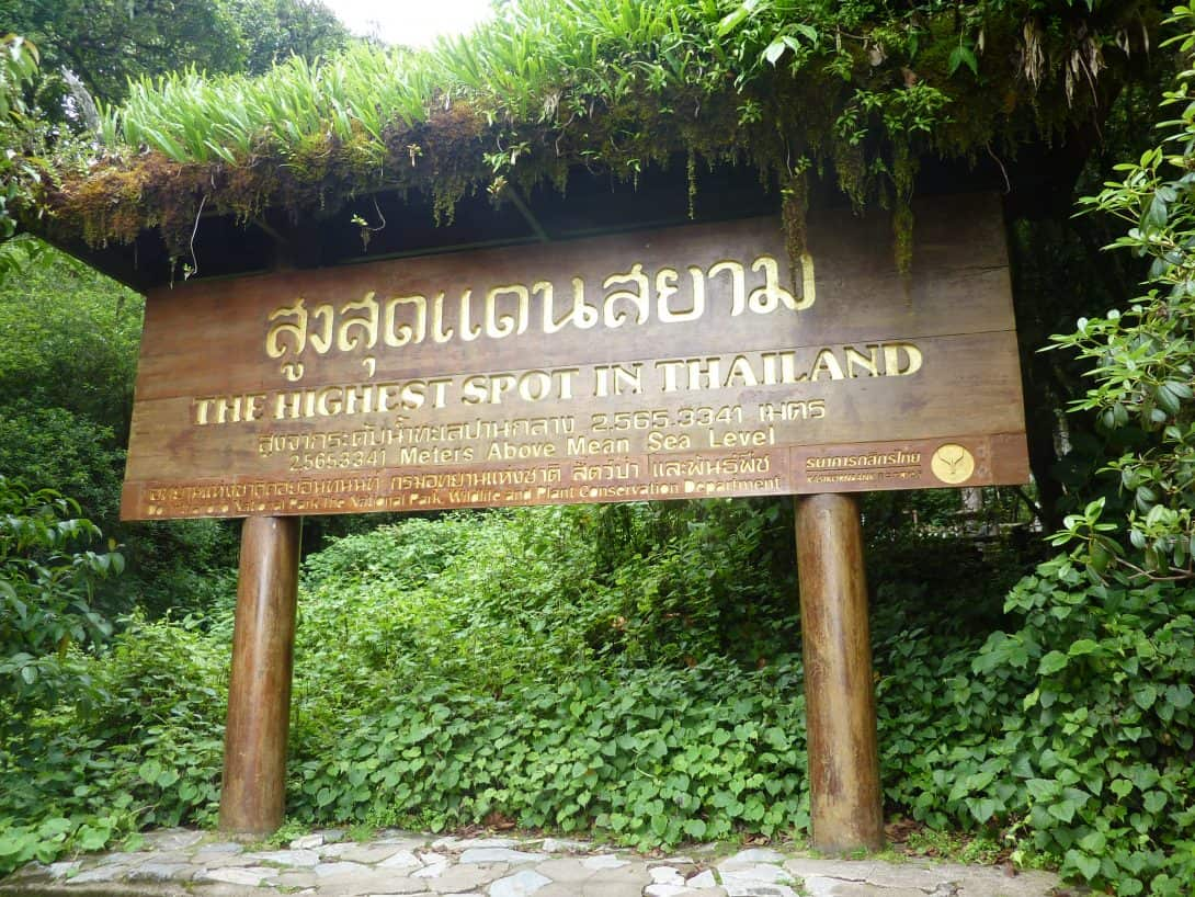 Doi Inthanon, the highest point in Thailand