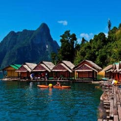 The Floating Bungalows on Cheow Lan Lake