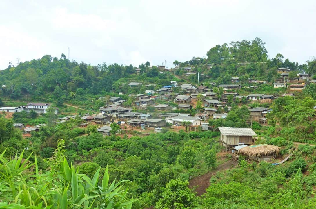 A hill tribe village in Northern Thailand.