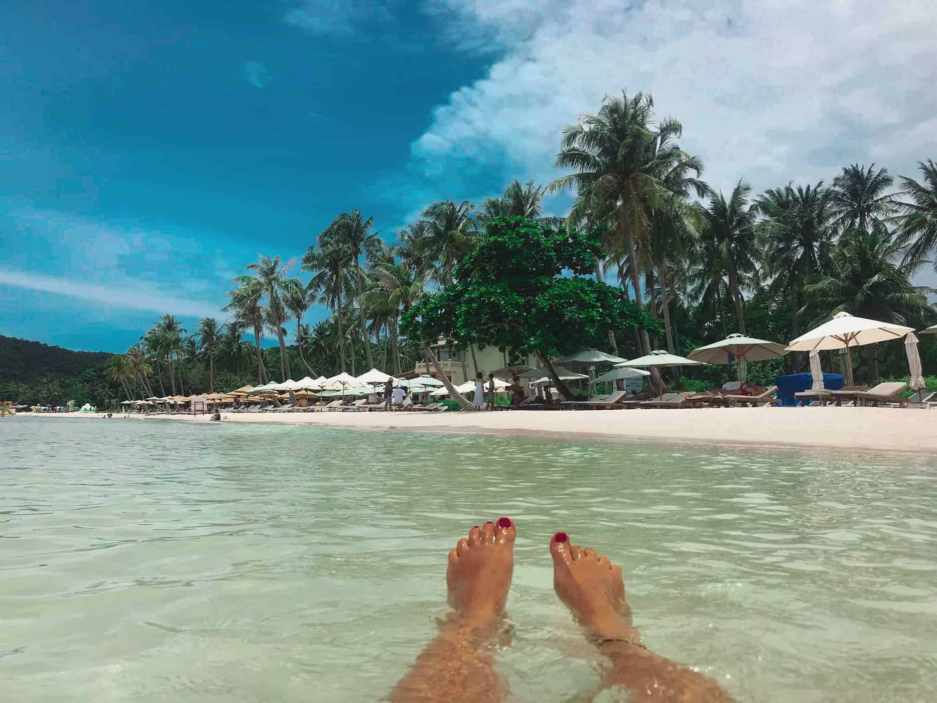 The beautiful clear waters and sands of Phu Quoc Island Vietnam