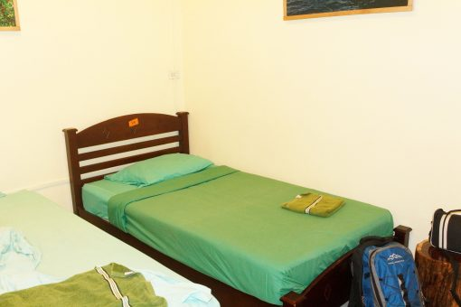 The comfy beds at Coco Hostel, Khao Sok.