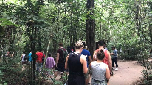On the way to the Cu Chi Tunnels