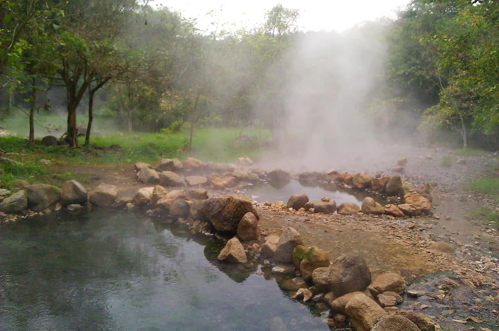 The hot springs of Pai, Thailand.