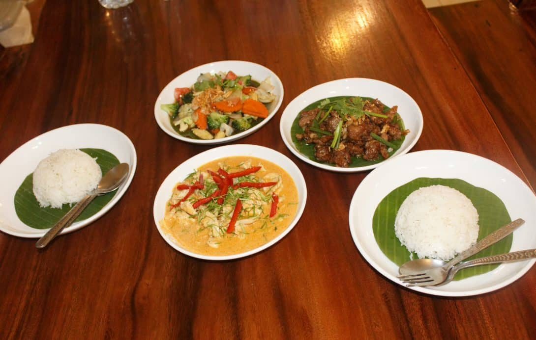 Our spread of delicious Thai food!