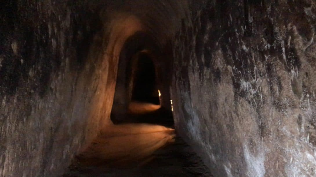 The corridors of the Cu Chi Tunnels