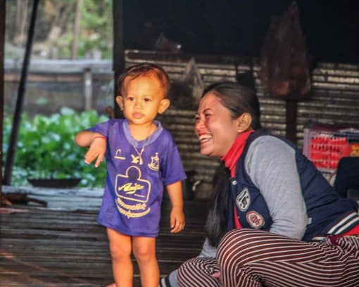 local mom and child Siem Reap Cambodia