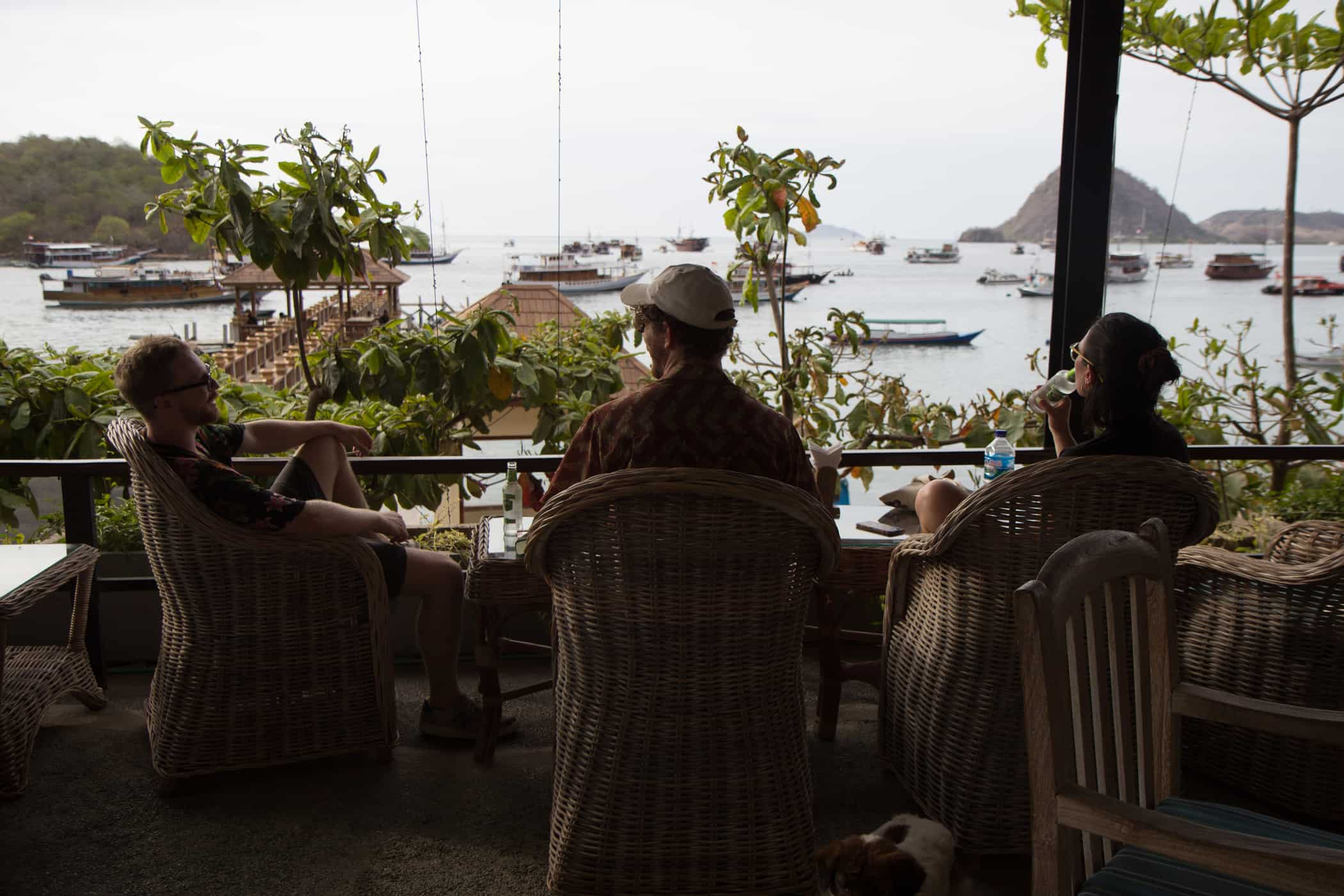 The View Over Lebuan Bajo Port Seen From A Restaurant