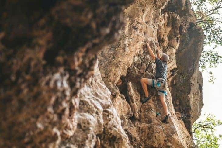 Will Climbing a Route at 123 Wall, Railay