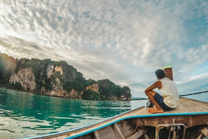 Catching the Longtail Boat From Railay Back to the Mainland