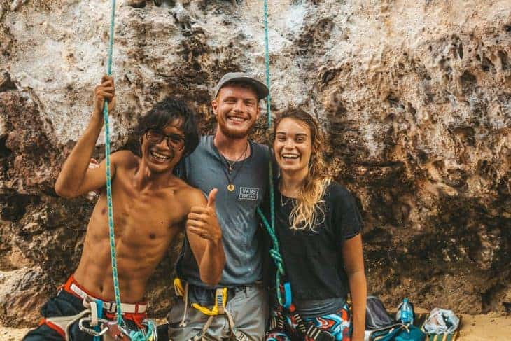 Will and Ellie with New the Climbing Guide!