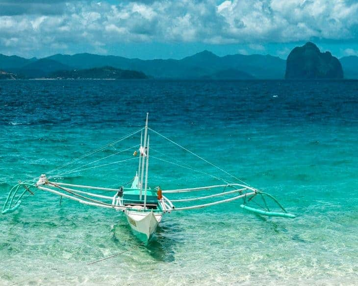 Boat on water Philippines
