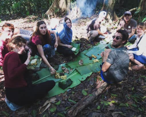 Group in camp