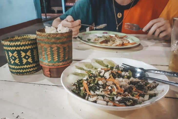 Laap with Minced Fish at Mama Tanon