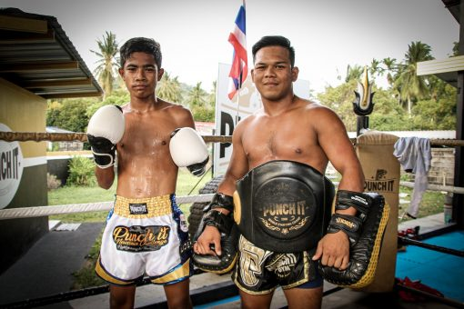 Muay Thai Trainer and young fighter Punch It Gym Thailand
