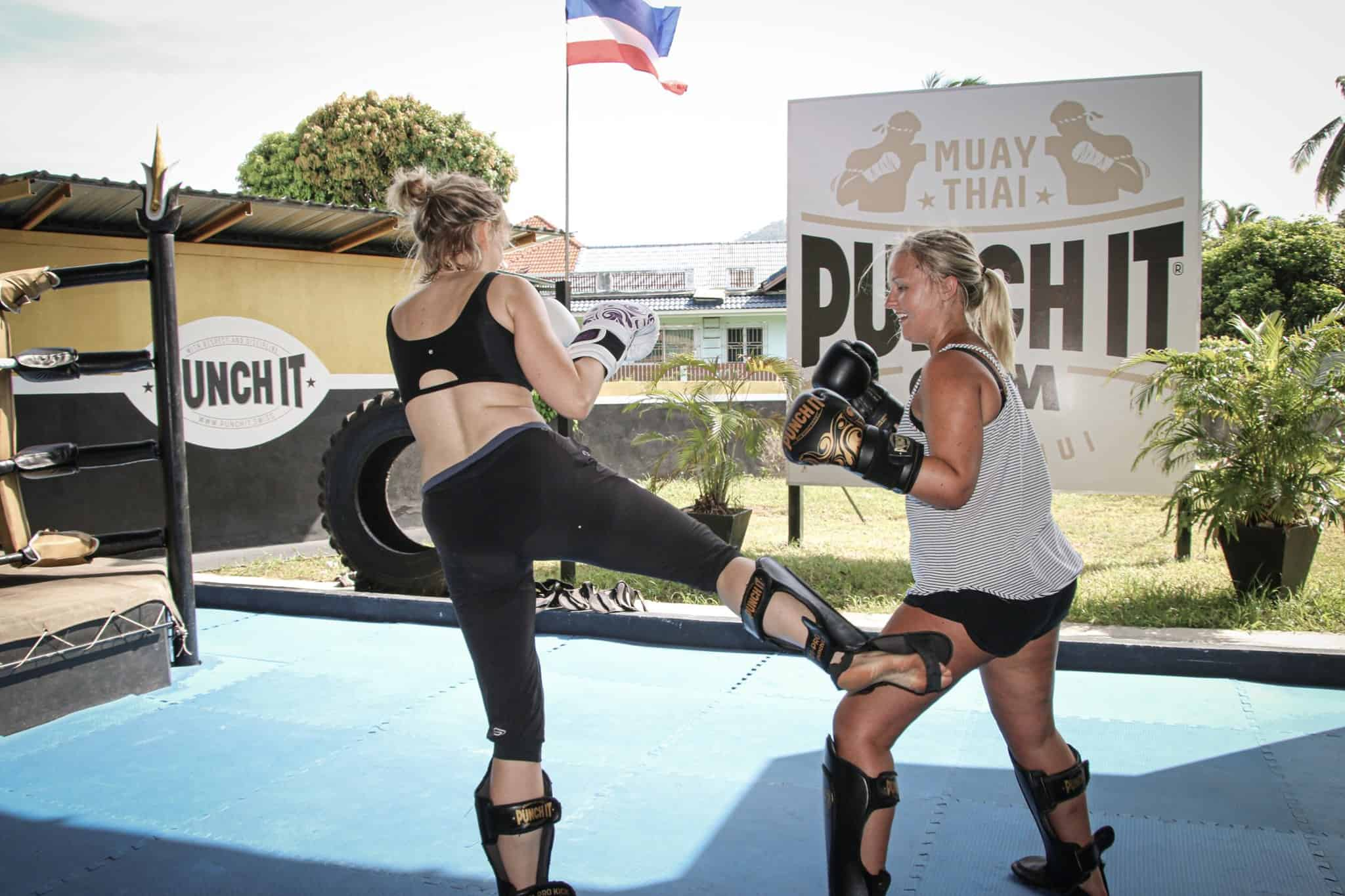 Training at Punch It Gym.