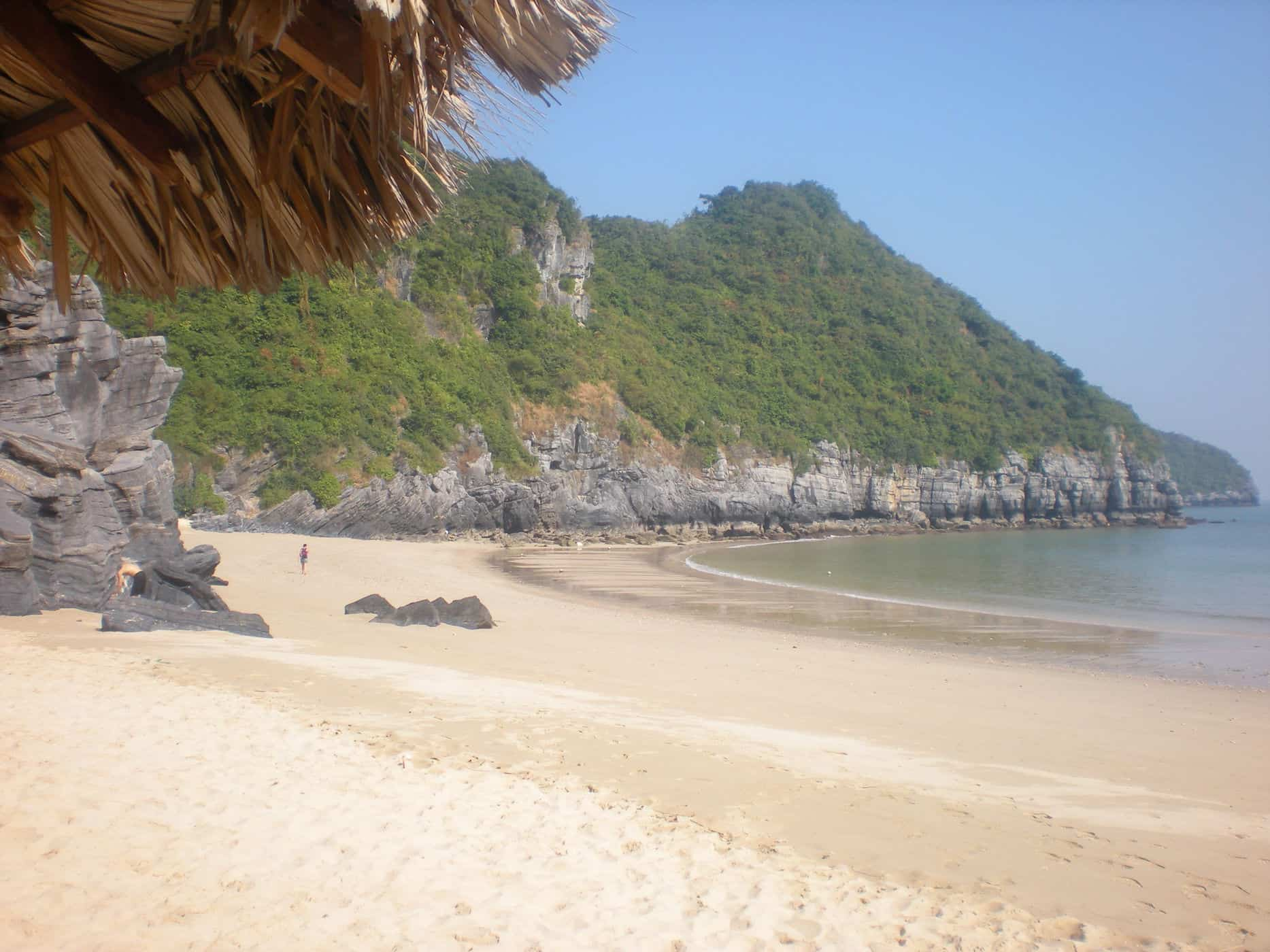 The uncrowded beaches of Cat Ba Island, Vietnam.