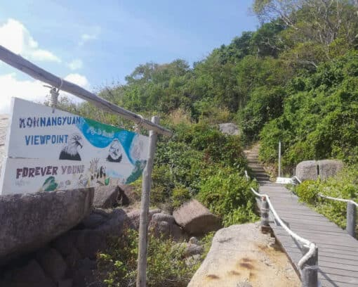 Hiking trail to Yang Nuan viewpoint