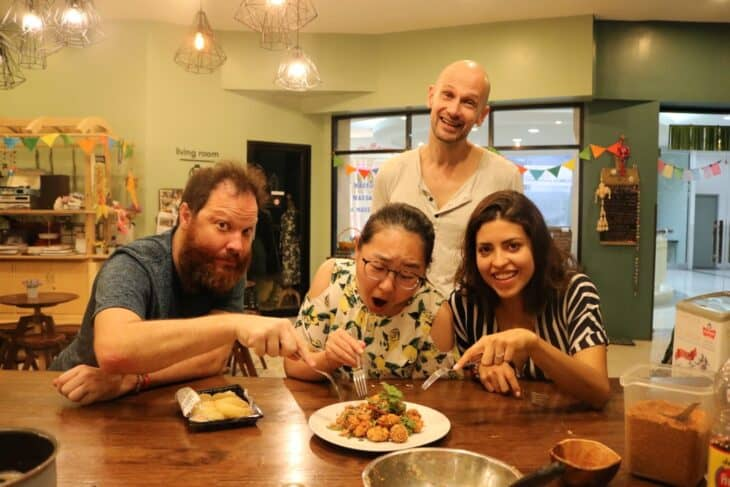Cooking Demo at Hom Hostel & Cooking Club