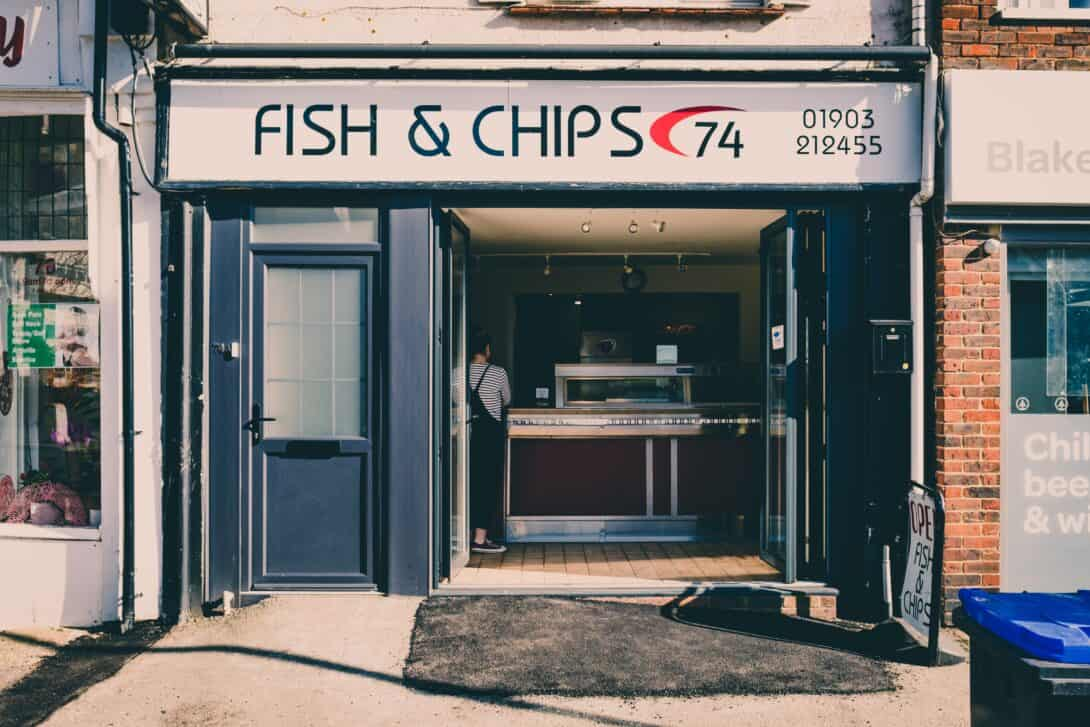 Fish and chip shop.