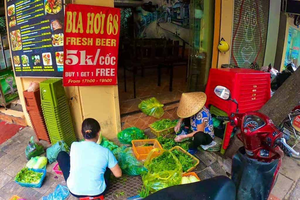 Bia Hoi signs in streets