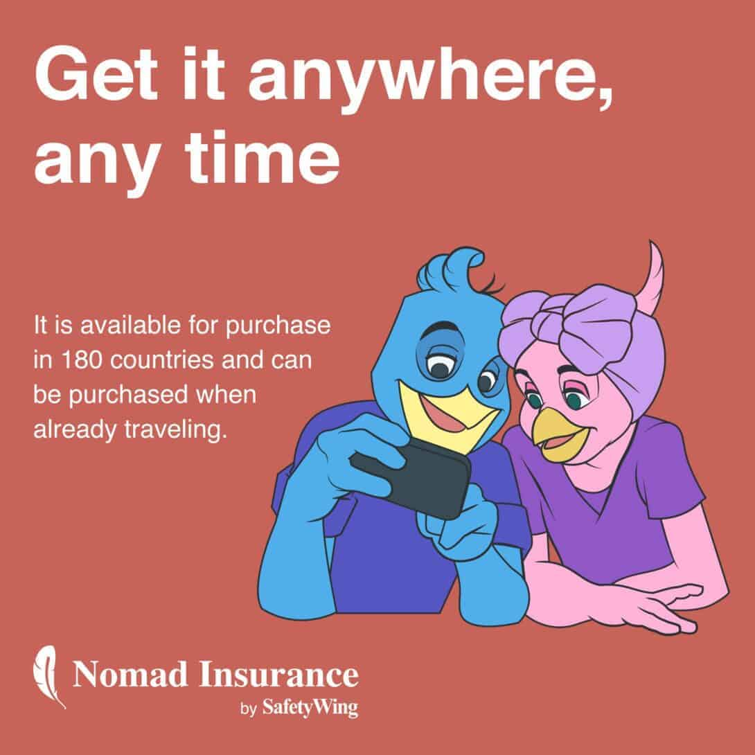 Get SafetyWing Insurance Anytime Anywhere