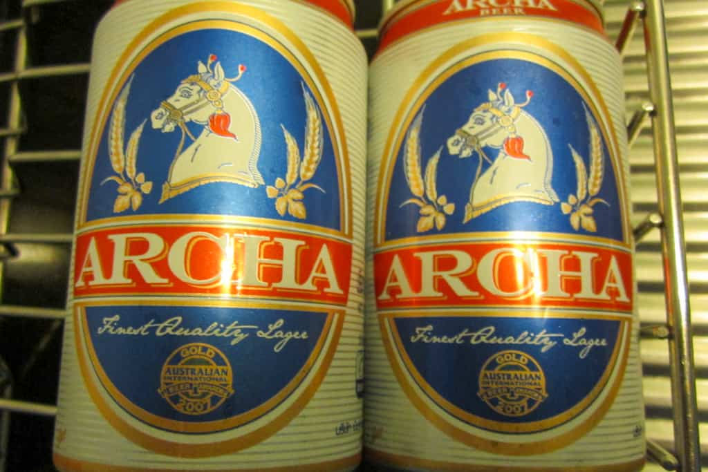 Archa beer in Thailand