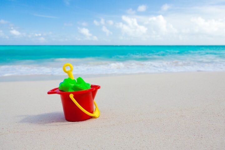 Bucket and spade in the sand