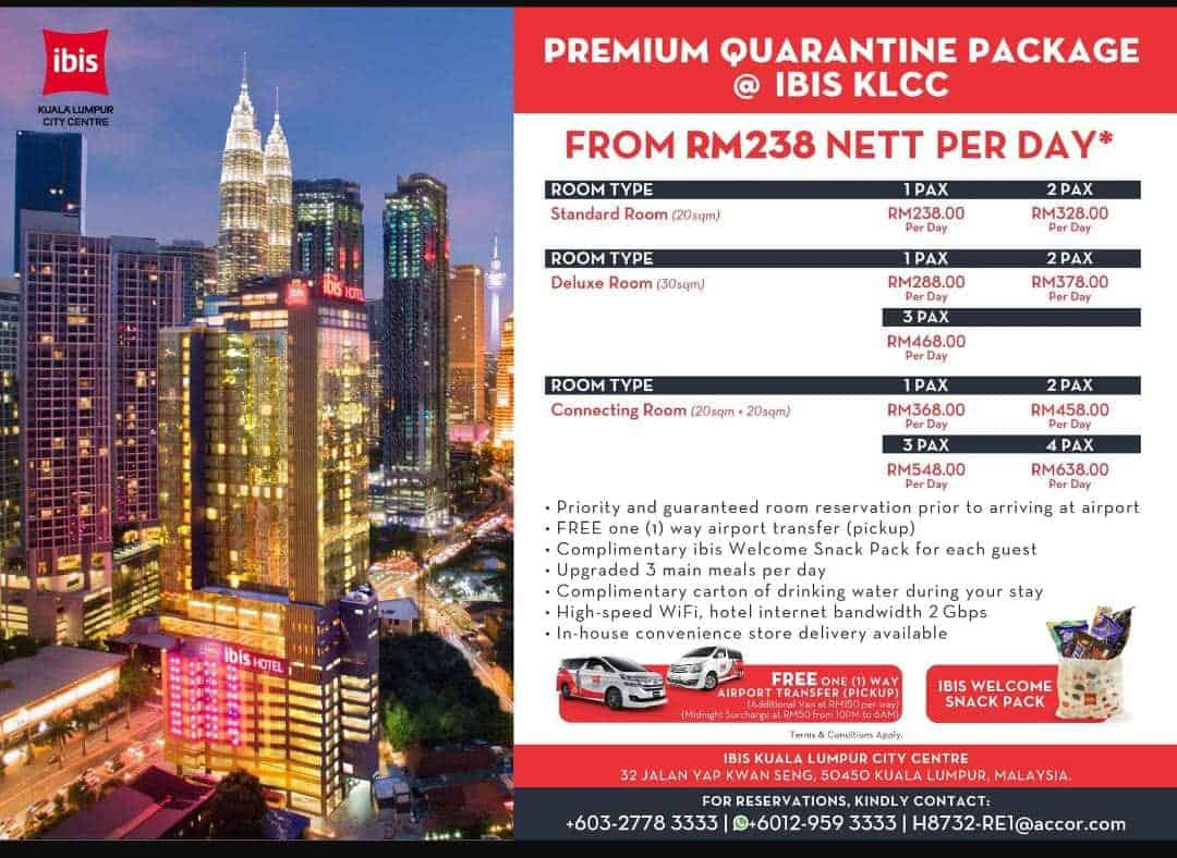 The quarantine package at IBIS KL.