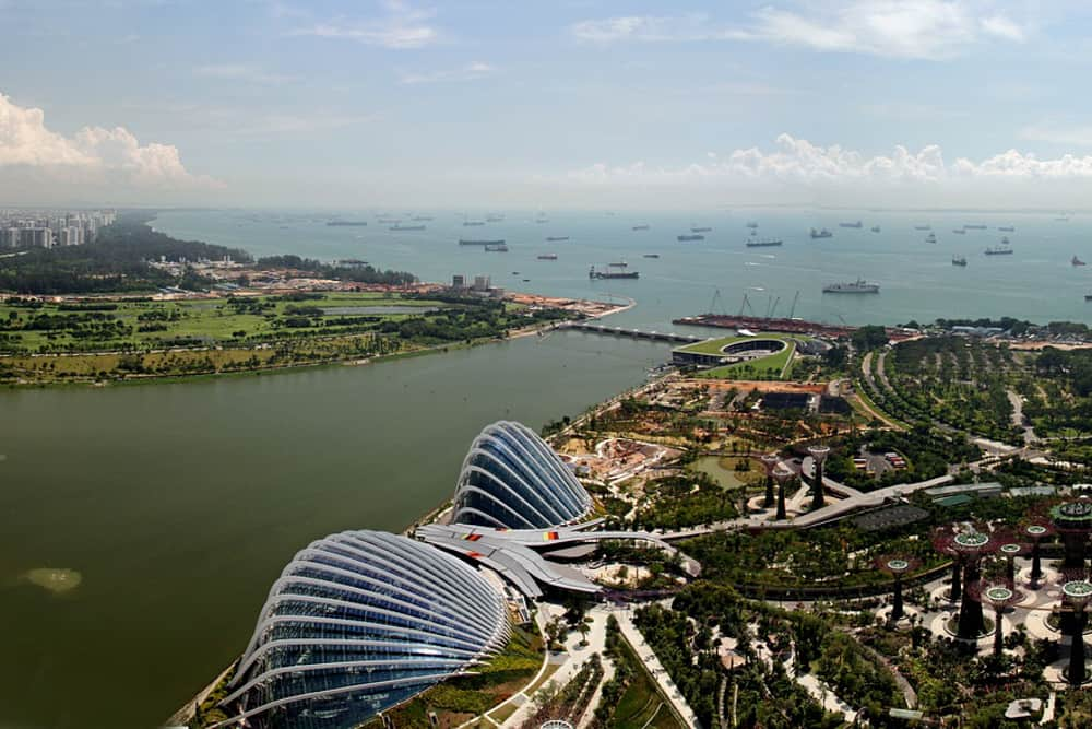 Singapore from the sky