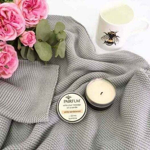 Pairfum Soy Candles Message Candle Flower