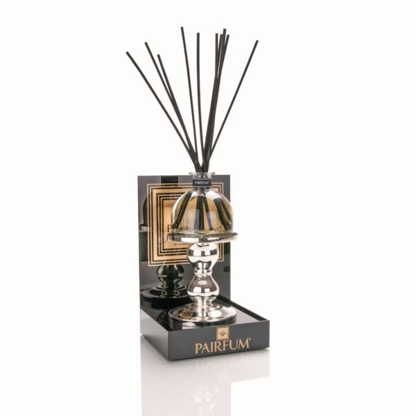 Pairfum Black Acrylic Display Plinth Large Reed Diffuser Holder Silver